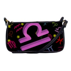 Libra Floating Zodiac Sign Shoulder Clutch Bags by theimagezone