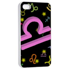 Libra Floating Zodiac Sign Apple Iphone 4/4s Seamless Case (white) by theimagezone