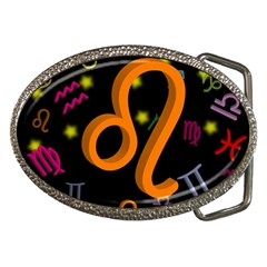 Leo Floating Zodiac Sign Belt Buckles by theimagezone