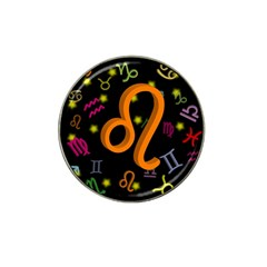 Leo Floating Zodiac Sign Hat Clip Ball Marker by theimagezone