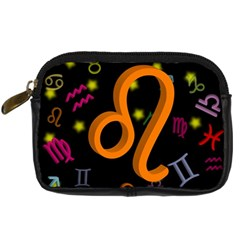 Leo Floating Zodiac Sign Digital Camera Cases by theimagezone