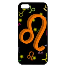 Leo Floating Zodiac Sign Apple Iphone 5 Seamless Case (black) by theimagezone