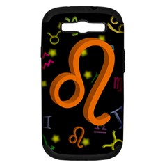 Leo Floating Zodiac Sign Samsung Galaxy S Iii Hardshell Case (pc+silicone) by theimagezone