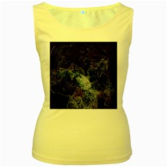 Space Like No 3 Women s Yellow Tank Tops by timelessartoncanvas