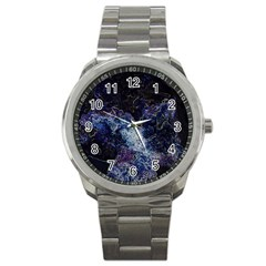 Space Like No 3 Sport Metal Watches by timelessartoncanvas