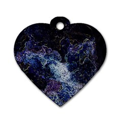 Space Like No 3 Dog Tag Heart (one Side) by timelessartoncanvas