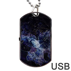 Space Like No 3 Dog Tag Usb Flash (two Sides)  by timelessartoncanvas