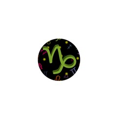 Capricorn Floating Zodiac Sign 1  Mini Buttons by theimagezone