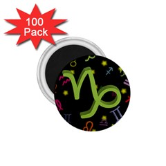 Capricorn Floating Zodiac Sign 1 75  Magnets (100 Pack)  by theimagezone