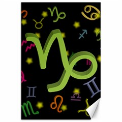 Capricorn Floating Zodiac Sign Canvas 20  X 30   by theimagezone