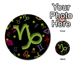 Capricorn Floating Zodiac Sign Multi Purpose Cards (round)  by theimagezone