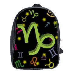 Capricorn Floating Zodiac Sign School Bags(large)  by theimagezone