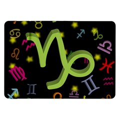 Capricorn Floating Zodiac Sign Samsung Galaxy Tab 8 9  P7300 Flip Case by theimagezone