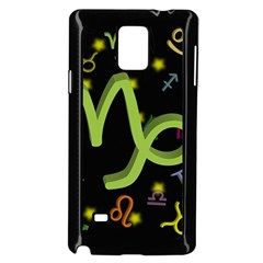 Capricorn Floating Zodiac Sign Samsung Galaxy Note 4 Case (Black) by theimagezone