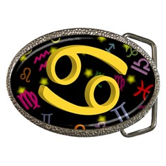 Cancer Floating Zodiac Sign Belt Buckles by theimagezone