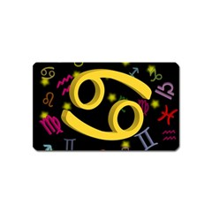 Cancer Floating Zodiac Sign Magnet (name Card) by theimagezone