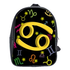 Cancer Floating Zodiac Sign School Bags(large)  by theimagezone
