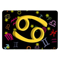Cancer Floating Zodiac Sign Samsung Galaxy Tab 8 9  P7300 Flip Case by theimagezone