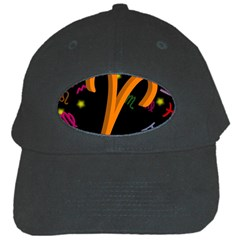 Aries Floating Zodiac Sign Black Cap by theimagezone