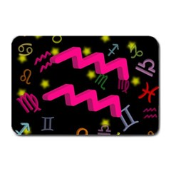 Aquarius Floating Zodiac Sign Plate Mats by theimagezone