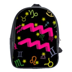 Aquarius Floating Zodiac Sign School Bags(large)  by theimagezone