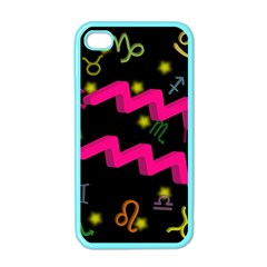 Aquarius Floating Zodiac Sign Apple Iphone 4 Case (color) by theimagezone