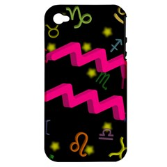 Aquarius Floating Zodiac Sign Apple Iphone 4/4s Hardshell Case (pc+silicone) by theimagezone