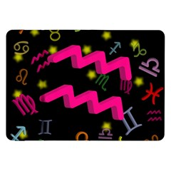 Aquarius Floating Zodiac Sign Samsung Galaxy Tab 8 9  P7300 Flip Case by theimagezone