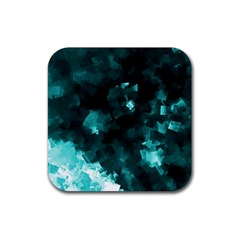 Space Like No.5 Rubber Coaster (Square)  by timelessartoncanvas