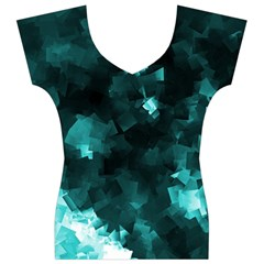Space Like No.5 Women s V-Neck Cap Sleeve Top by timelessartoncanvas