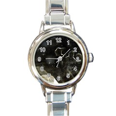 Space Like No 6 Round Italian Charm Watches by timelessartoncanvas
