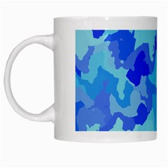 Camouflage Blue White Mugs by MoreColorsinLife