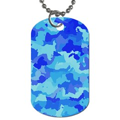 Camouflage Blue Dog Tag (Two Sides) by MoreColorsinLife