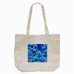 Camouflage Blue Tote Bag (cream)  by MoreColorsinLife
