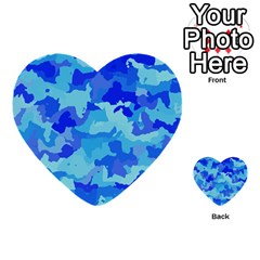Camouflage Blue Multi Purpose Cards (heart)