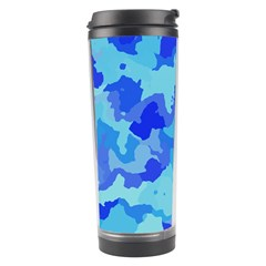 Camouflage Blue Travel Tumblers by MoreColorsinLife