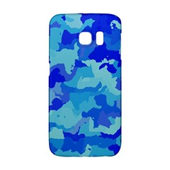 Camouflage Blue Galaxy S6 Edge by MoreColorsinLife