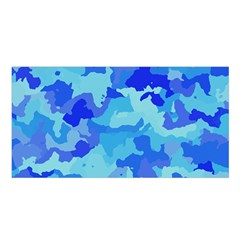 Camouflage Blue Satin Shawl