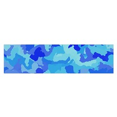 Camouflage Blue Satin Scarf (oblong) by MoreColorsinLife