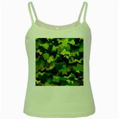 Camouflage Green Green Spaghetti Tanks by MoreColorsinLife