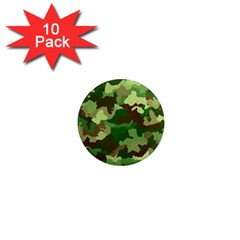 Camouflage Green 1  Mini Magnet (10 pack)  by MoreColorsinLife