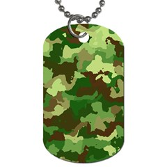 Camouflage Green Dog Tag (two Sides) by MoreColorsinLife