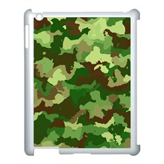 Camouflage Green Apple iPad 3/4 Case (White) by MoreColorsinLife