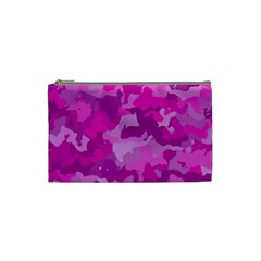 Camouflage Hot Pink Cosmetic Bag (small)  by MoreColorsinLife