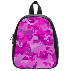 Camouflage Hot Pink School Bags (small)  by MoreColorsinLife