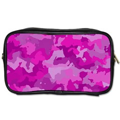 Camouflage Hot Pink Toiletries Bags 2 Side by MoreColorsinLife