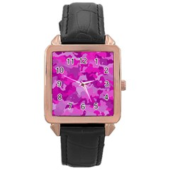 Camouflage Hot Pink Rose Gold Watches by MoreColorsinLife