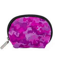 Camouflage Hot Pink Accessory Pouches (small)  by MoreColorsinLife