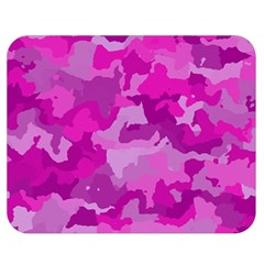 Camouflage Hot Pink Double Sided Flano Blanket (medium)  by MoreColorsinLife