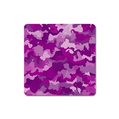 Camouflage Purple Square Magnet by MoreColorsinLife